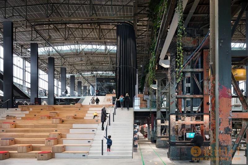 荷兰蒂尔堡LocHal图书馆改造