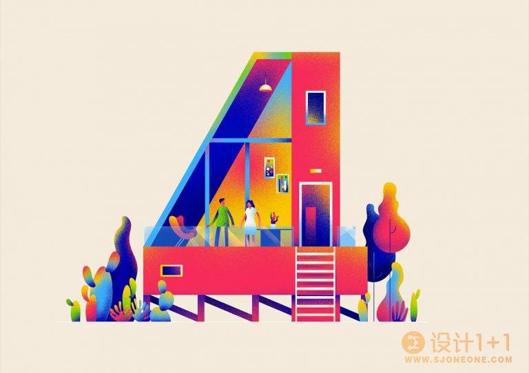 Muhammed Sajid数字建筑插画设计