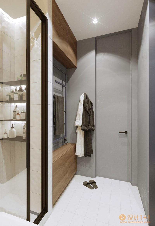 基辅120平米高雅时尚的现代住宅设计
