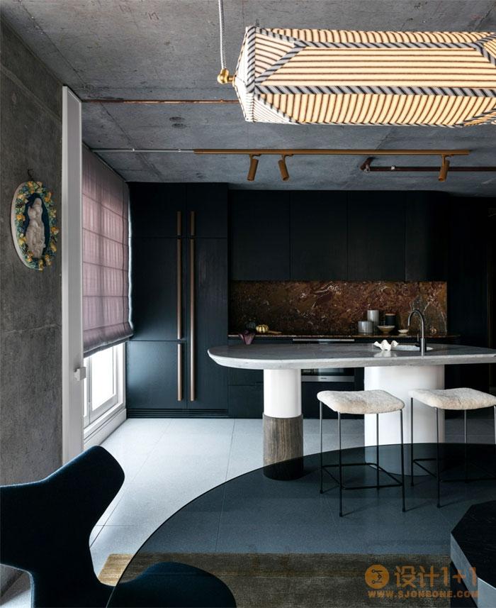 暗黑色调的悉尼时尚公寓设计