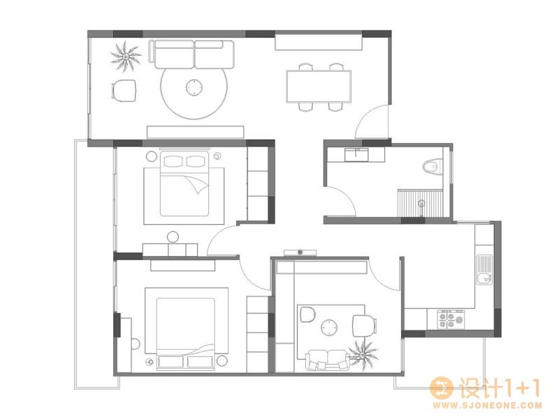 4个简约纯净的白色公寓设计