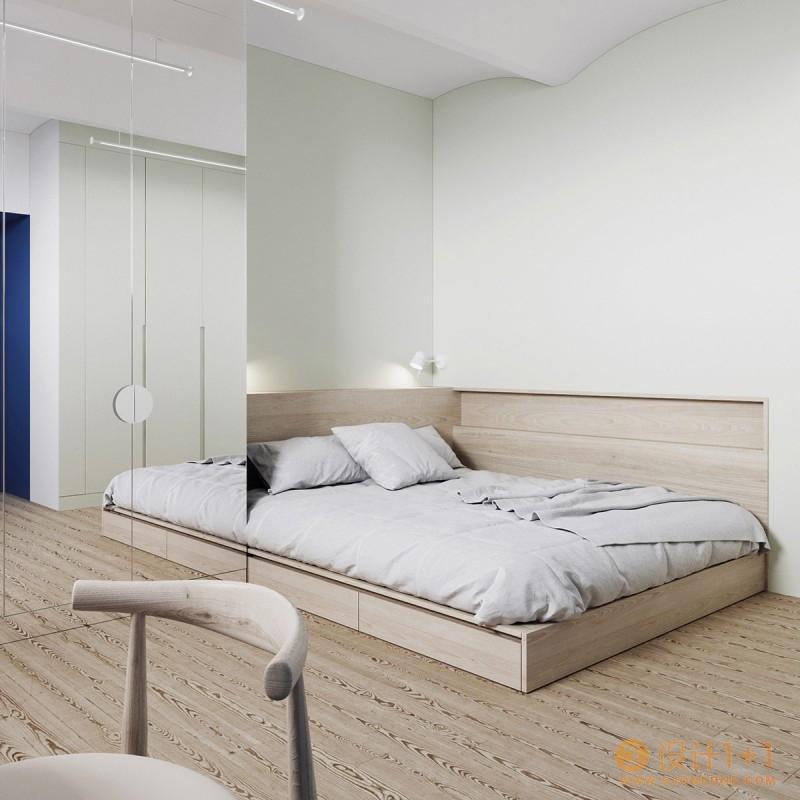 使用颜色划分空间的家居装修设计