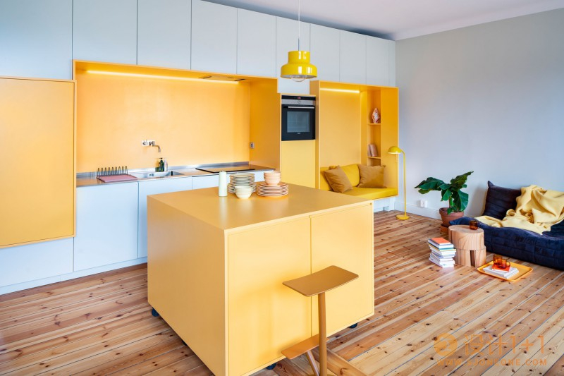 瑞典上世纪20年代公寓的现代时尚风格翻新