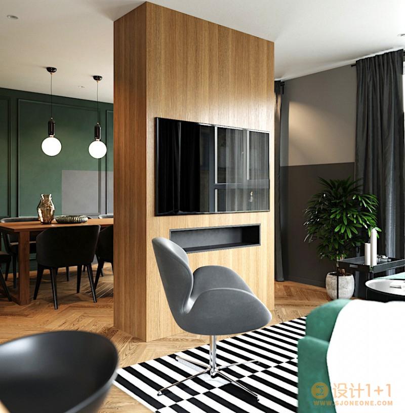 俄罗斯79㎡欧美复古风格公寓设计