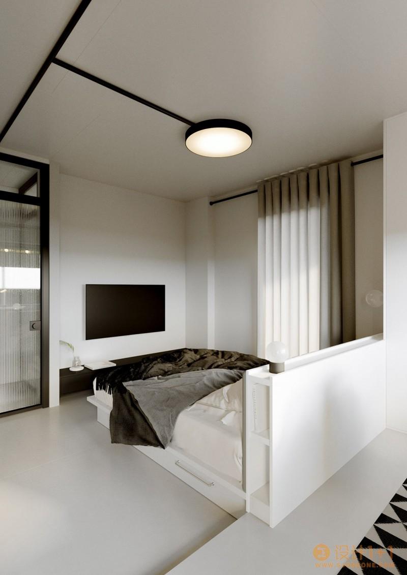 带有一丝蒙德里安风情的现代简约住宅设计
