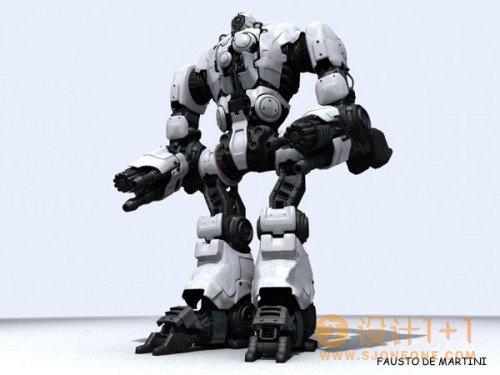45个精美的3D机器人