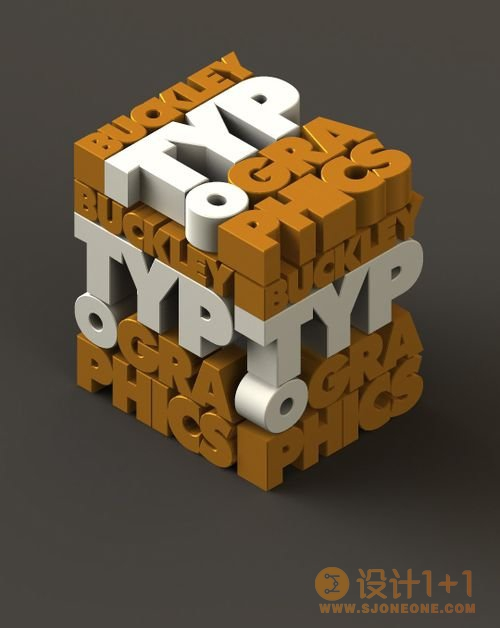 30张超Cool的3D文字设计