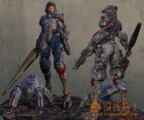 高质量的3D角色设计