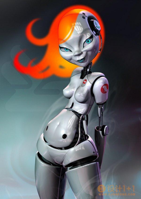 角色设计欣赏:逼真的3D机器人