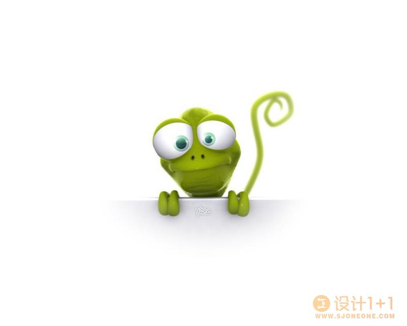 可爱的3D卡通动物设计