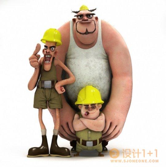 可爱的3D卡通角色设计