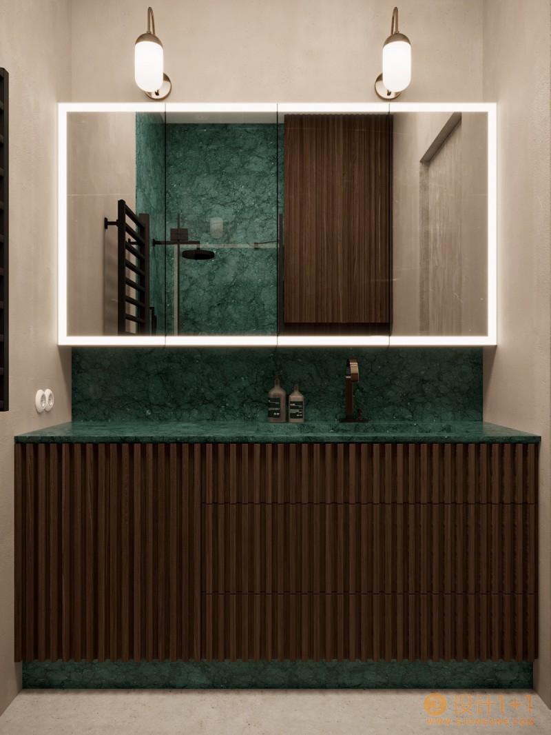 3套开放式卧室布局的豪华公寓设计