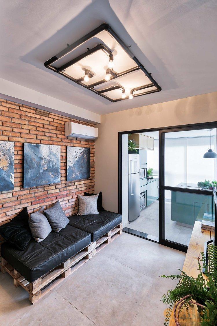 巴西49平米工业风单身阳光公寓