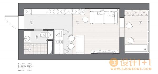 3套40平米现代公寓装修设计
