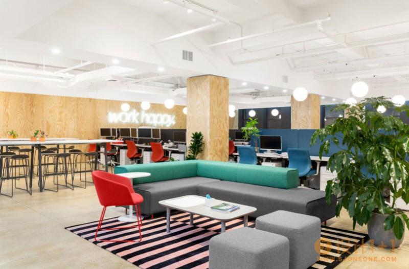 线上办公家具零售商Poppin纽约总部办公室设计
