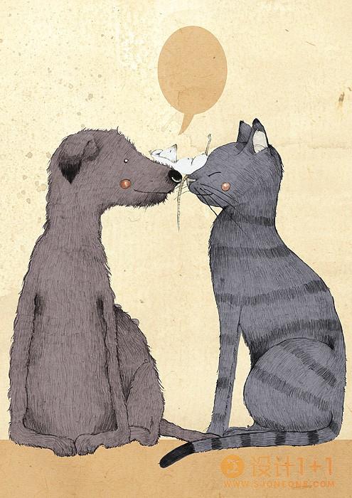 可爱的猫:Judith Loske插画作品欣赏