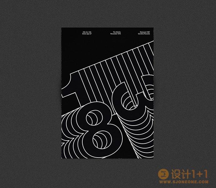 35个极简风格文字海报设计