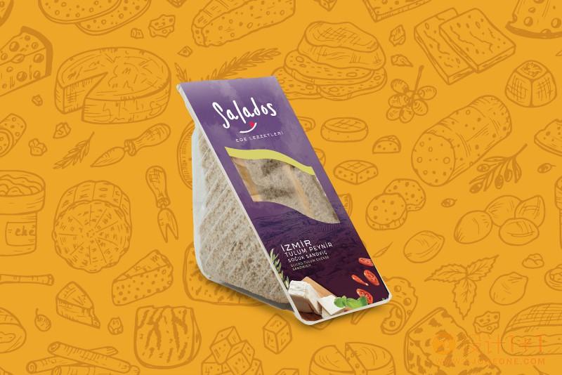 Salados三明治包装设计