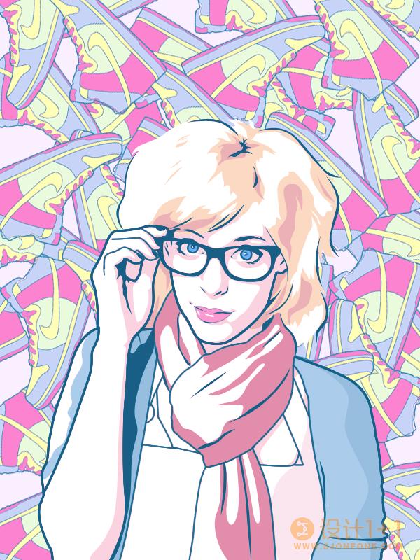 50张Vexel女孩插画作品欣赏