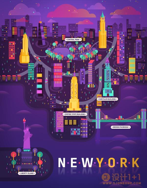Aldo Crusher大都市矢量风格插画