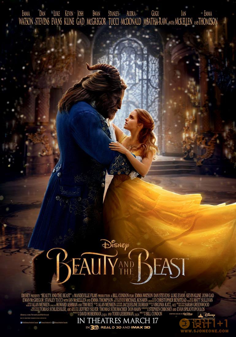 电影海报欣赏:美女与野兽 Beauty and the Beast