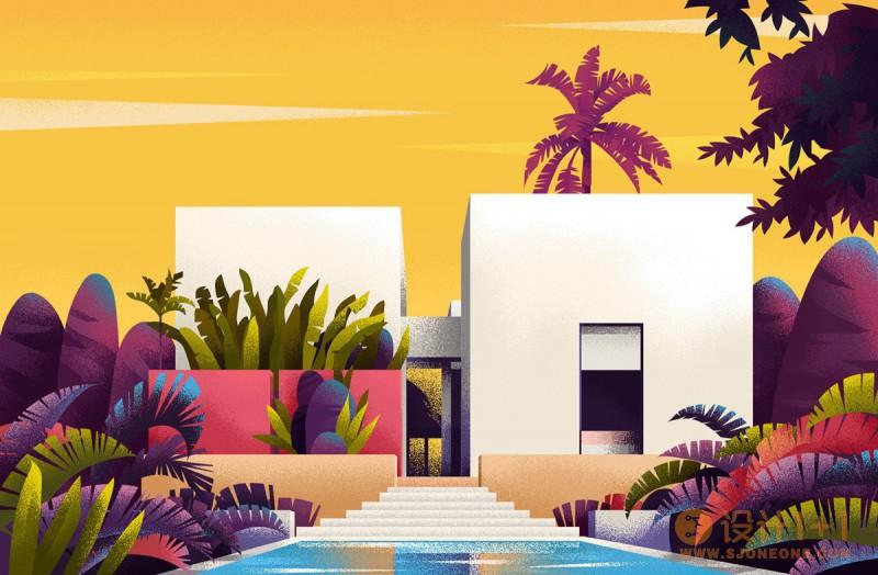 Muhammed Sajid:迷人的世界各地家居建筑插图设计
