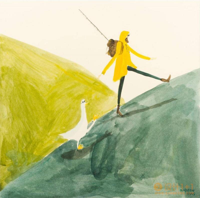 Kirsten Sims随性自由的插画作品欣赏