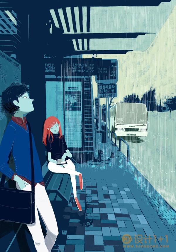 Oriol Vidal复古风格生活场景插画欣赏
