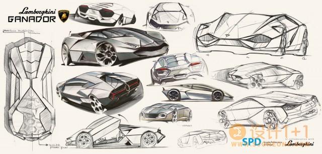 兰博基尼Ganador概念车设计