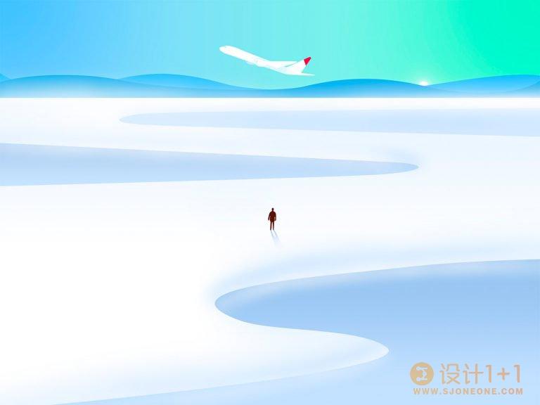 Effy Zhang极简风景插画作品