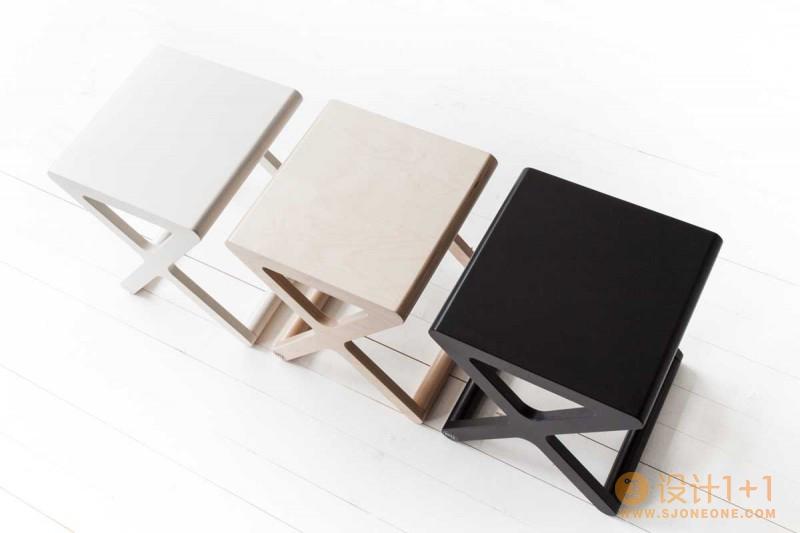 Rafa-kids:简洁创意的K书桌和X椅子