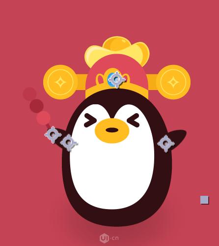 AE制作企鹅动画表情图标教程