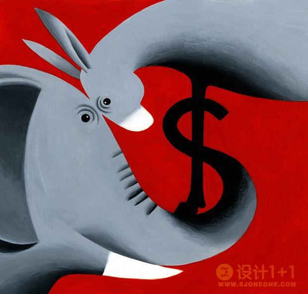 Thomas Fuchs杂志插图设计