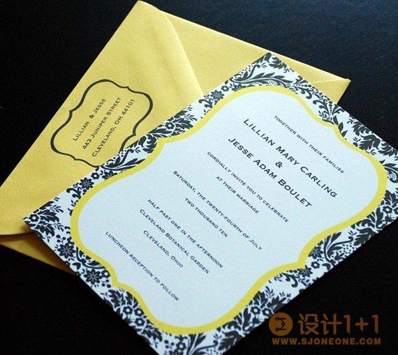 60款清新优雅的婚礼请柬设计