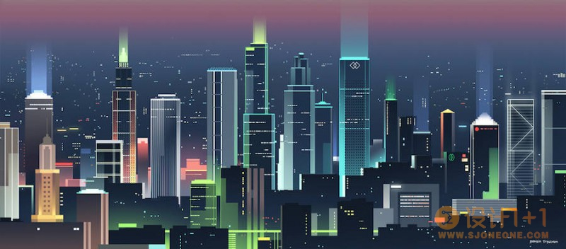 Romain Trystram炫彩都市景观插画欣赏
