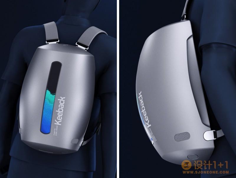 极具未来感的新概念Keeback背包