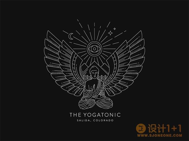 45个翅膀元素的logo设计