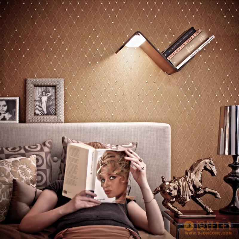 Lili Lite创意床头书架灯