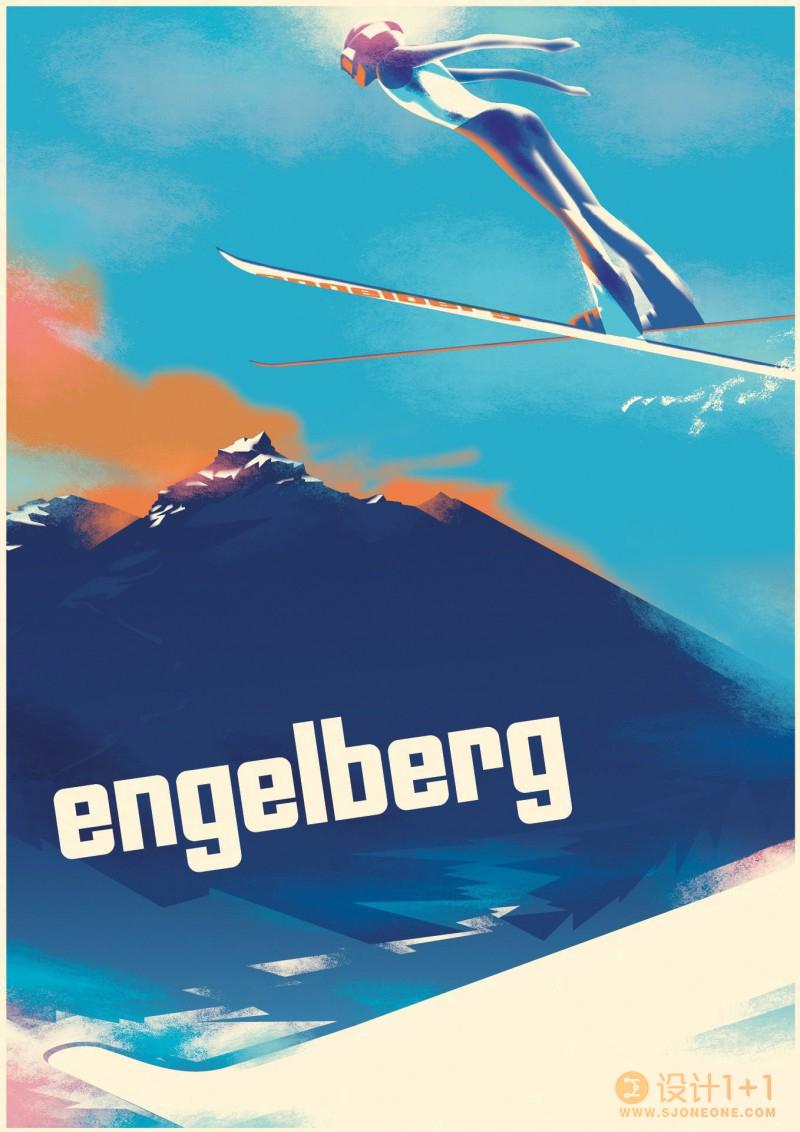 Mads Berg装饰艺术和复古风格海报设计