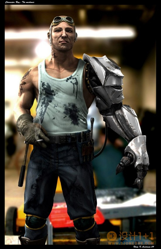 25个3D战士人物CG设计