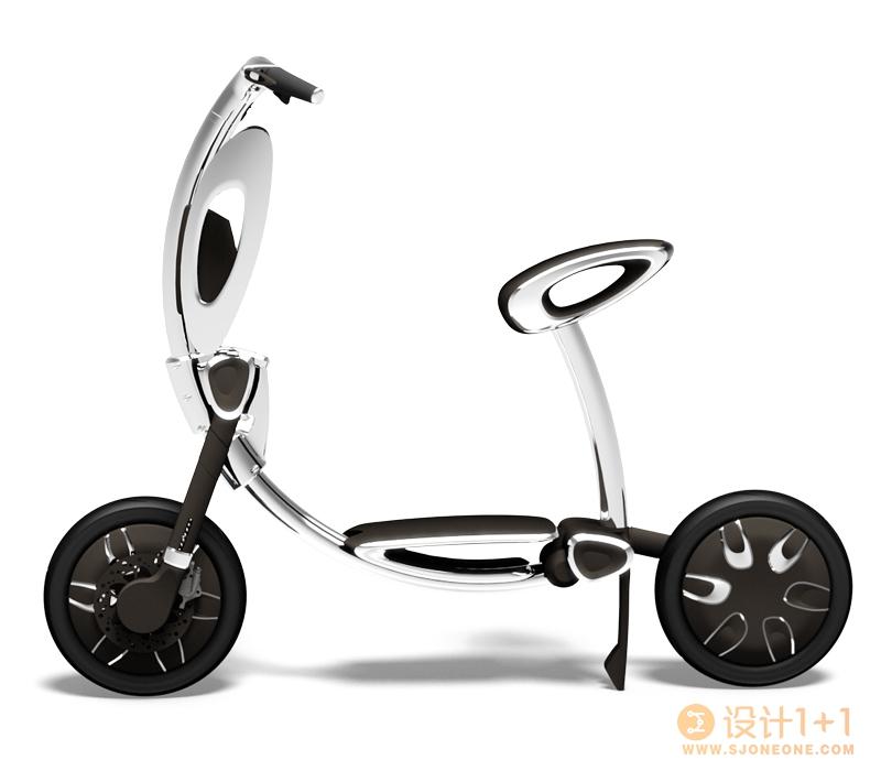INU自动折叠智能电动车