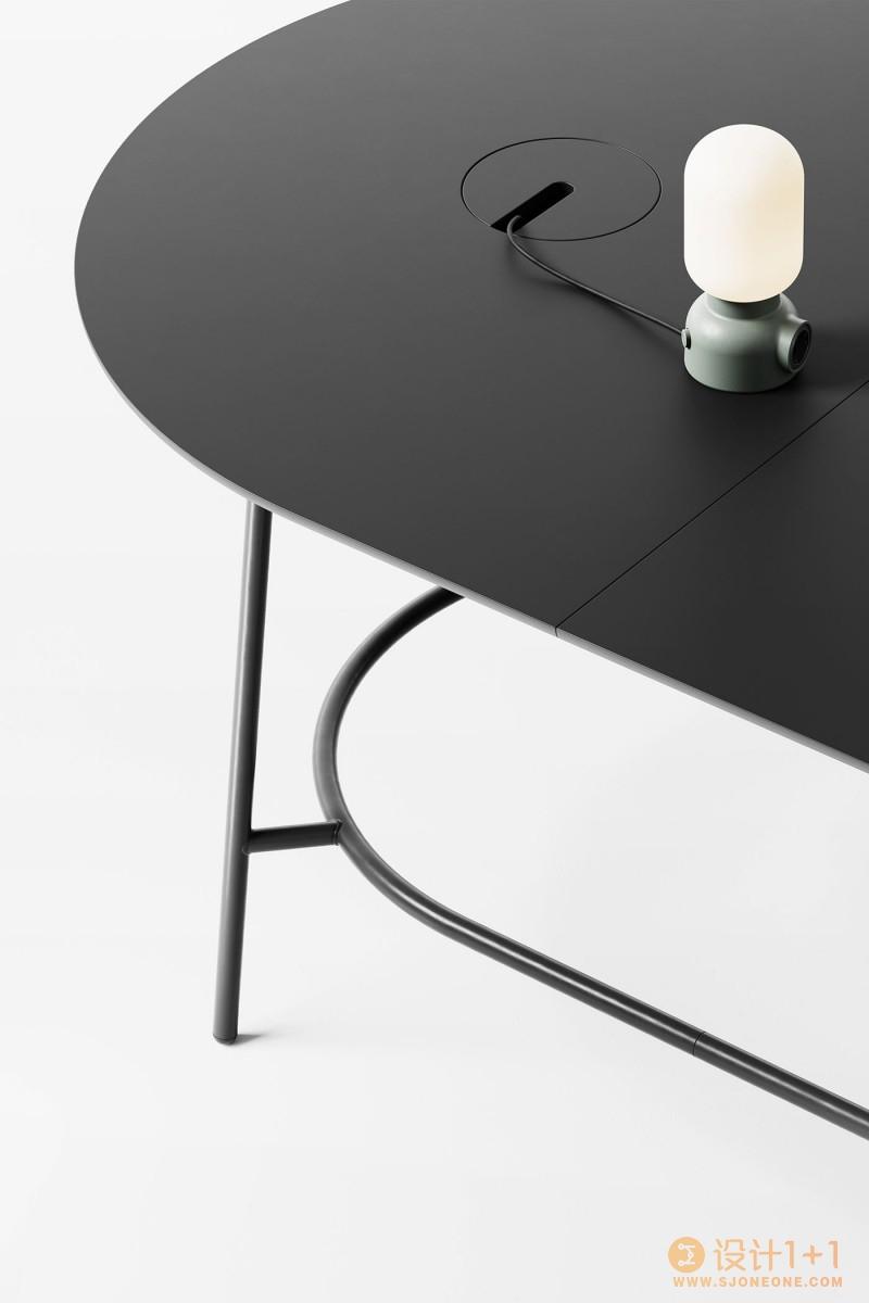 Nest极简主义的模块化桌子设计