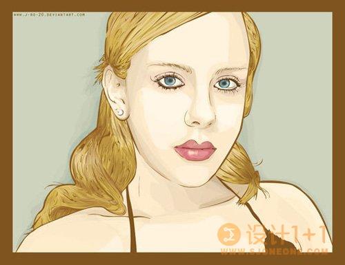 30张色彩丰富的矢量肖像插画欣赏
