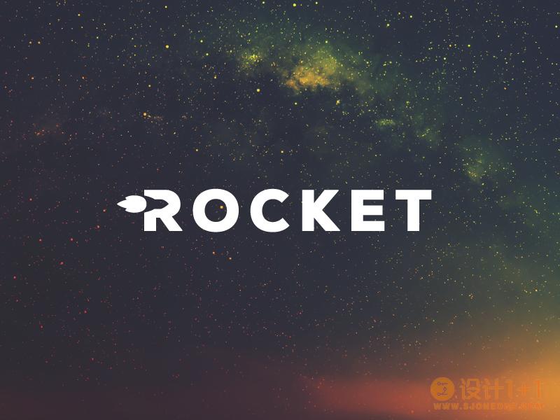 65款很酷的火箭logo设计