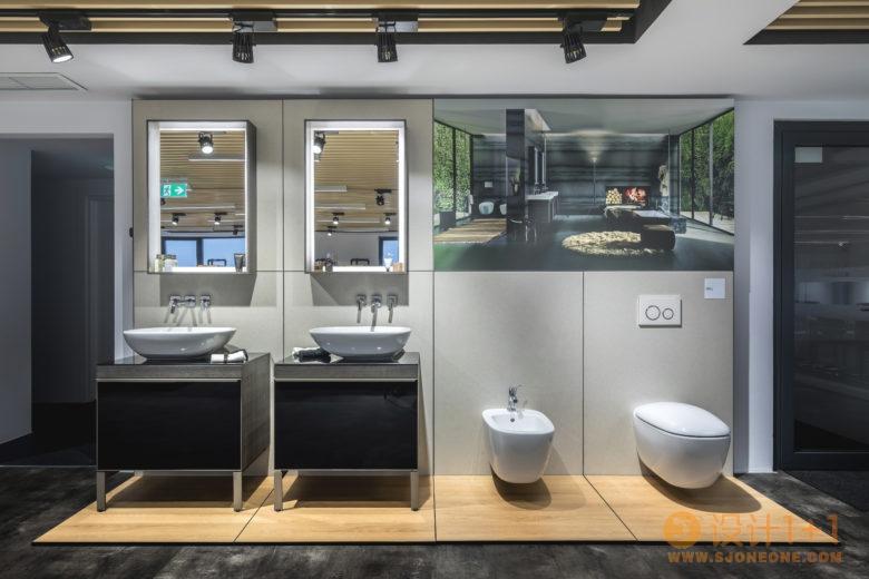 卫浴品牌吉博力罗马尼亚总部和展厅设计