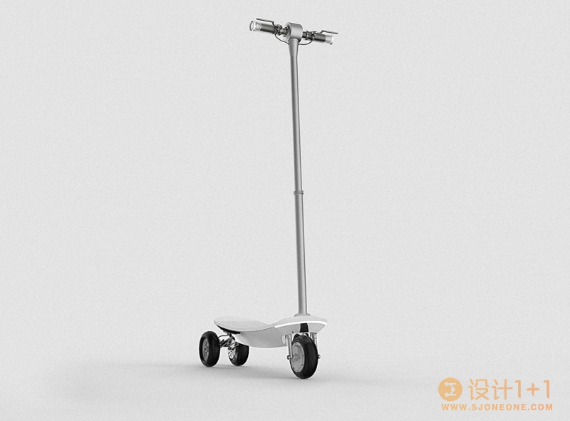 简洁酷炫的成人概念滑板车