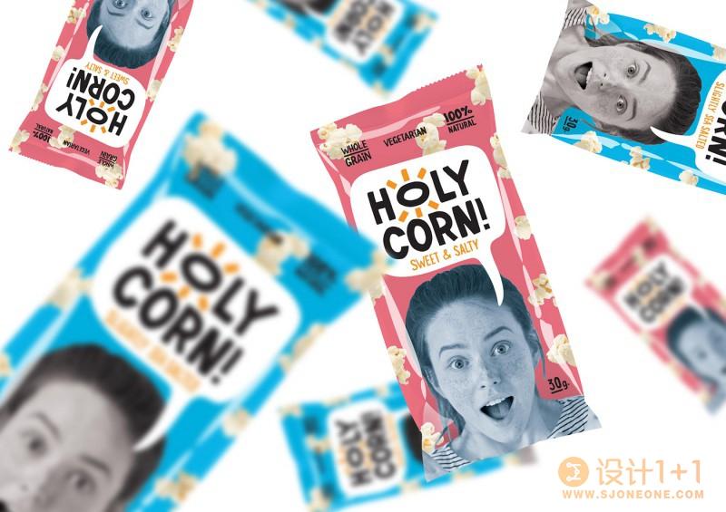 Holy Corn!爆米花包装设计