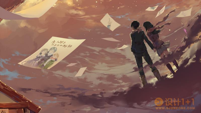 40个浪漫的动漫场景插画设计