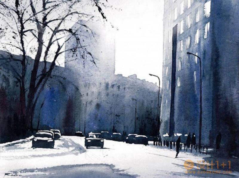Rafal Rudko漂亮的水彩街景画欣赏
