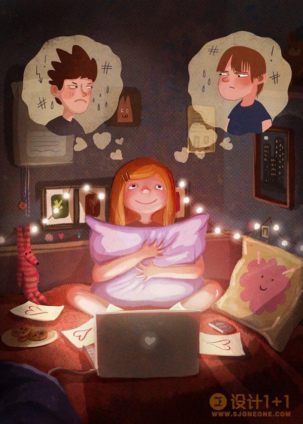 Emilia Dziubak趣味卡通插画